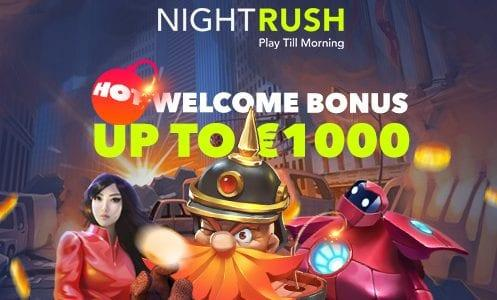 NightRush Casino Welcome Bonus