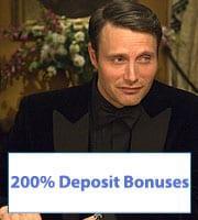 200% Casino Bonuses