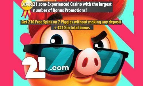 21.com Casino Bonuses