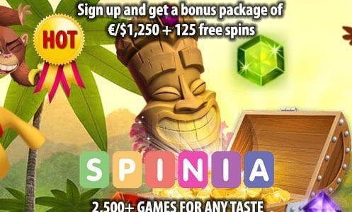 Spinia Casino Bonus Pakcage