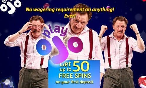 playojo no wagering requirements