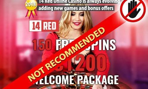 14 Red Not Recommended Casino