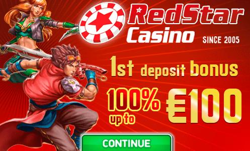 RedStar Casino 1st Deposit Bonus