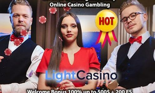 Light Casino Welcome Bonus