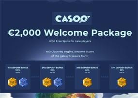 Casoo – Superb gamification casino with a space theme! Must try for serious players.