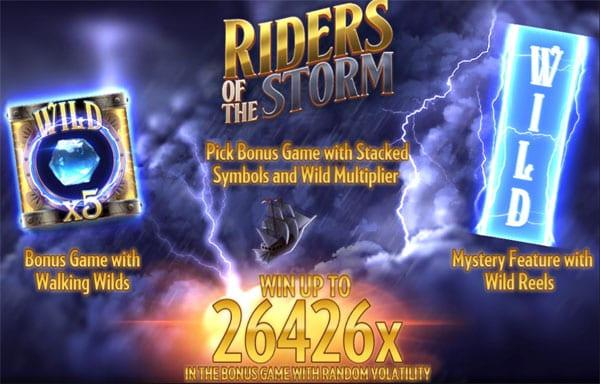 Riders of the storm slot by Thunderkick