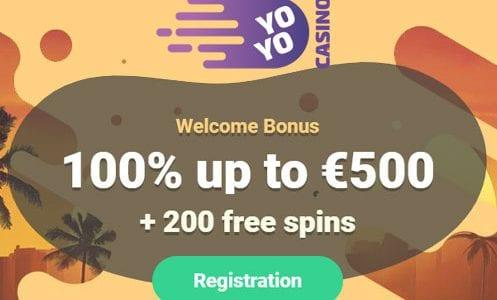 Yo Yo Casino Welcome Bonus
