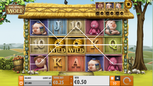 The pigs turn Wild in Big Bad Wolf slot