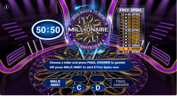 Bonus features during Who Wants to be a Millionaire gameplay
