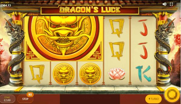 Mega Coin Symbol in Dragon's Luck slot