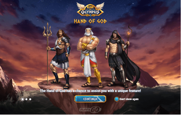 Hand of God feature Rise of Olympus Play'N Go