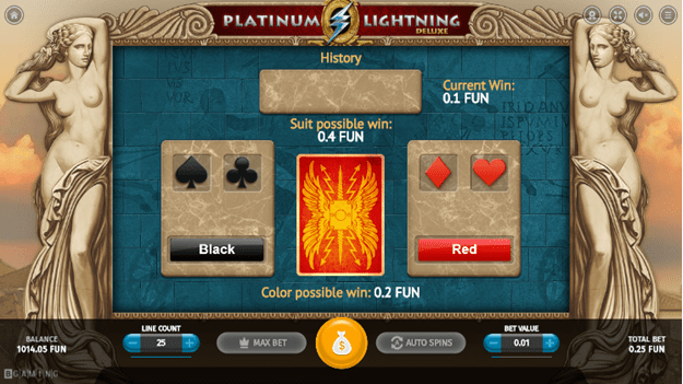 The gamble feature of the slot
