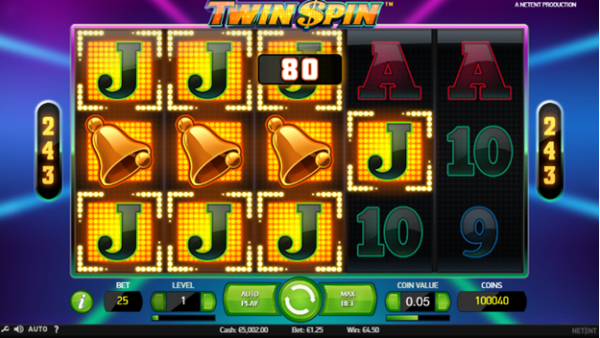 Winning combo on Twin Spin slot