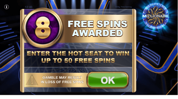 Free Spins on Who Wants to Be a Millionaire