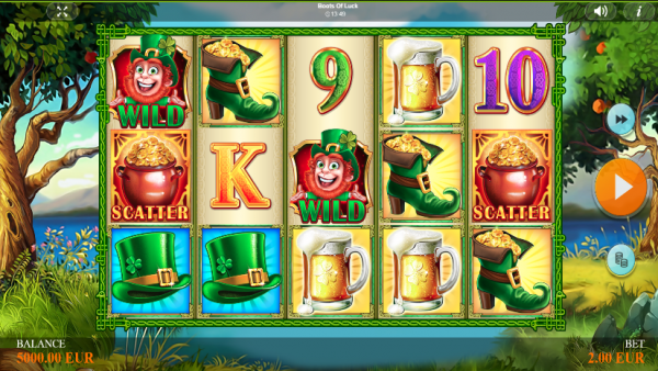 Boots of Luck slot is created by Betixon