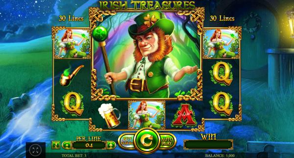 Irish Treasures slot developed by Spinomenal