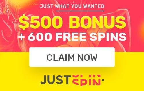 Justspin Casino Welcome Bonus