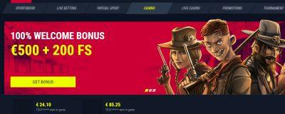 Rabona Casino Welcome Bonus