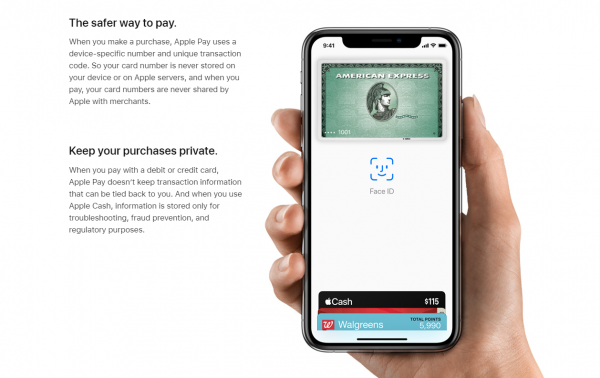 Every transaction with Apple Pay is safe and secure
