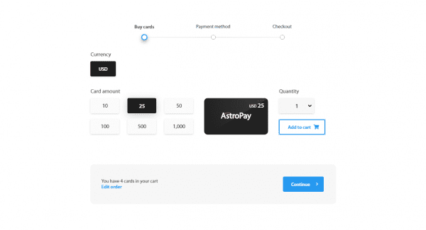 Easy payment with AstroPay