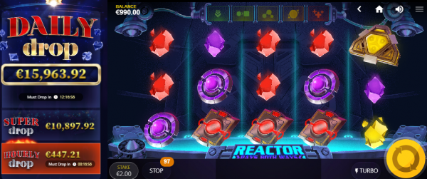 Reactor is a top must-fall daily Jackpot