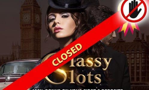 Classy Slots Casino Closed