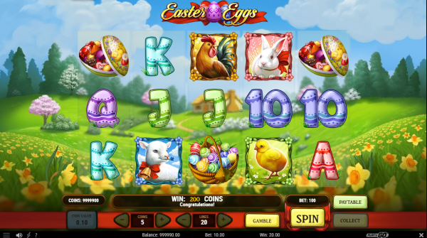 Easter Eggs slot developed by Play'n GO