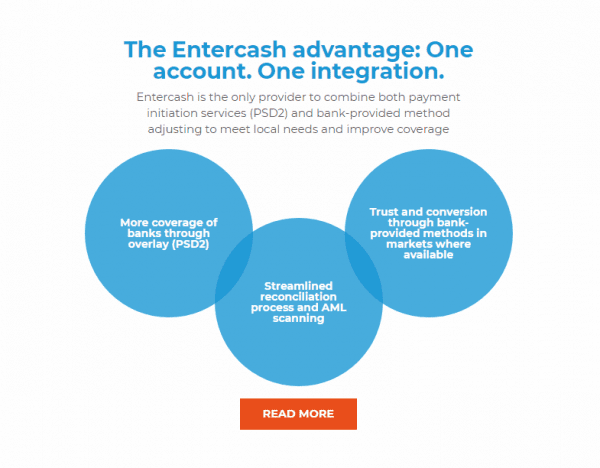 Entercash Advantages