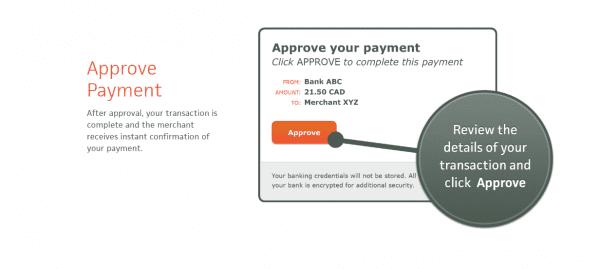 iDebit deposit confirmation