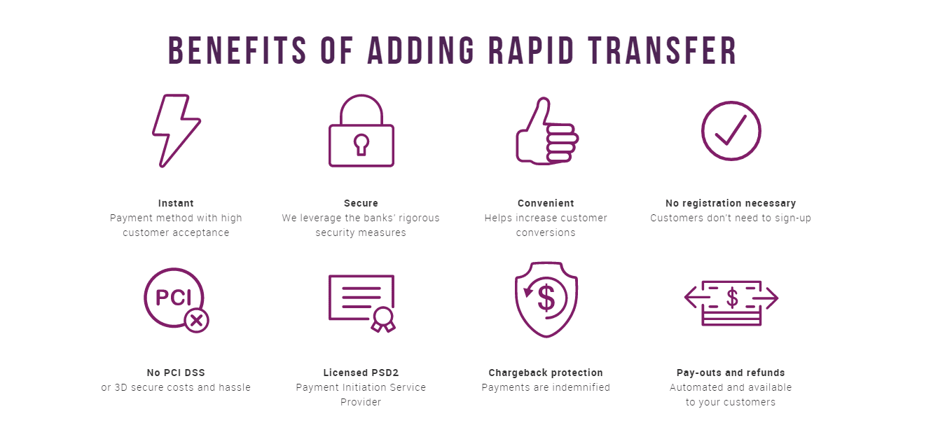 The benefits of using RapidTransfer
