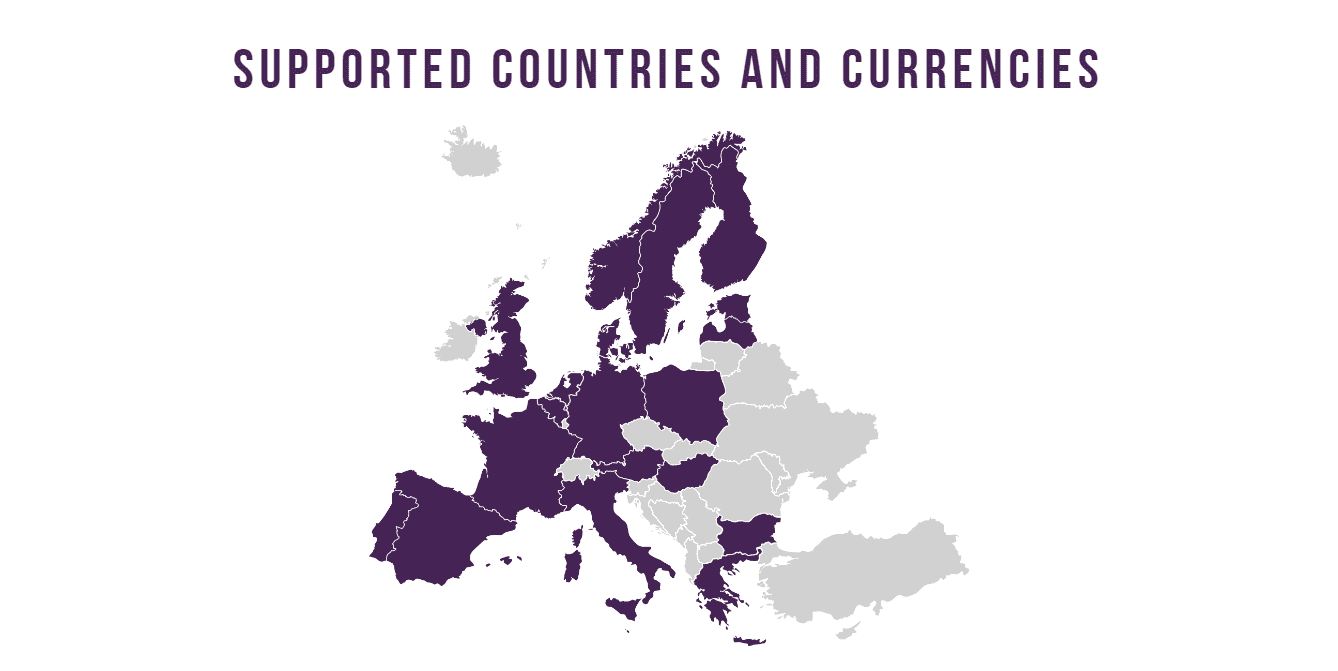 RapidTransfer supported countries