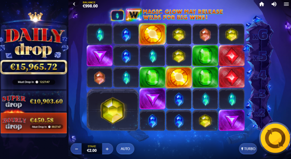 Gemtastic Daily Drop Progressive Jackpot