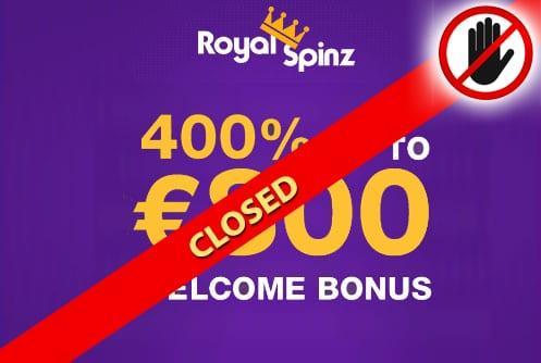 RoyalSpinz Casino Closed