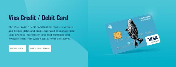 Saastopankki issues both debit and credit cards
