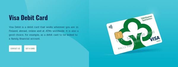 Saastopankki works with VISA for their range of cards