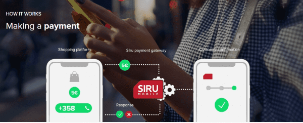Siru Mobile payment are very straight-forward
