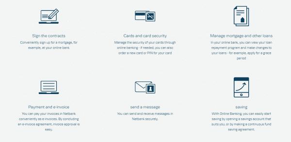 Verkkopankki is a very versatile internet banking tool