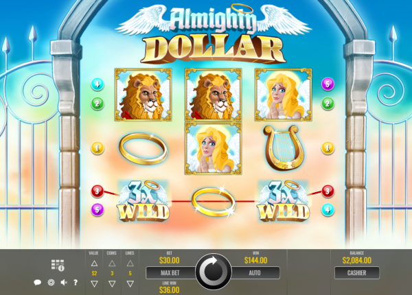 Spin the reels for the Almighty Dollar - a Rival slot!