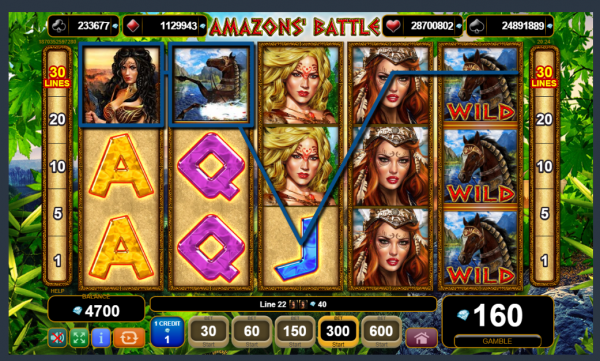 EGT had developed the great Amazons Battle Jackpot