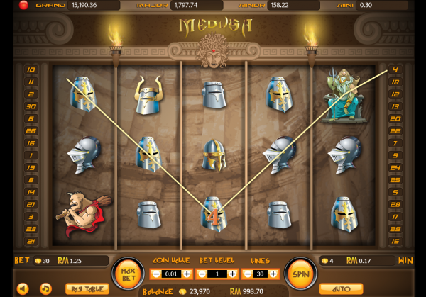 Enjoy the Medusa slot and enable the jackpots at any Asia Live Tech Casino