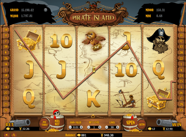 Go on an adventure on the Pirate Island slot with Asia Live Tech