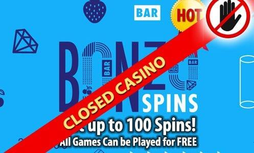 Bonzospins Casino Closed Casino