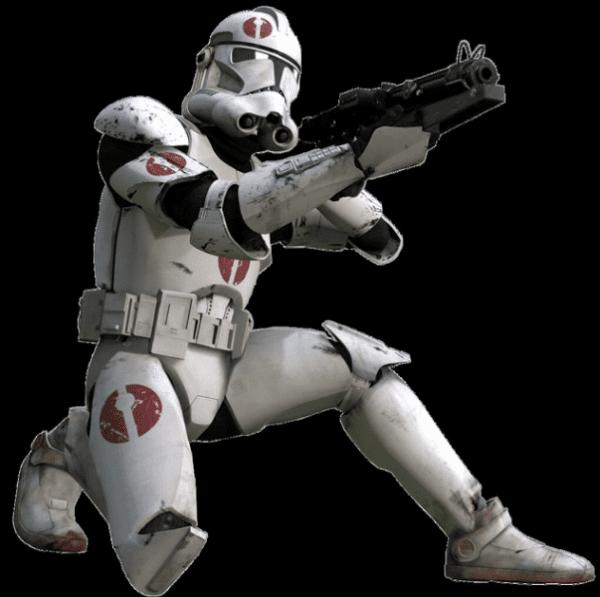 A clone trooper in Star Wars