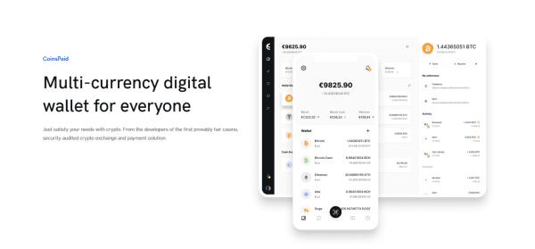 CoinsPaid is a universal digital wallet