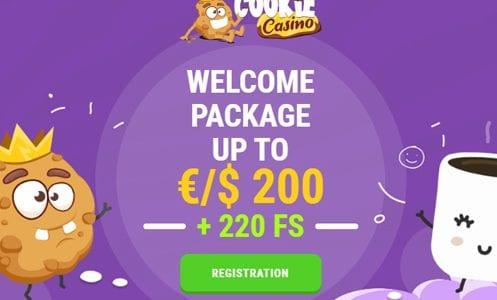 CookieCasino Welcome Package