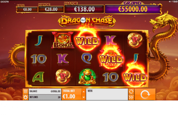 Dragon Chase is a progressive jackpot by Quickspin