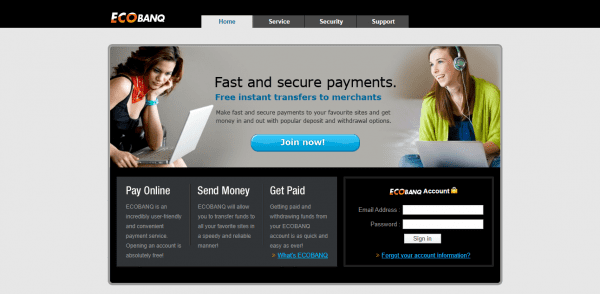 Ecobanq transfers are ideal for online payments
