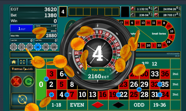 Claim any of the 4 progressive jackpot with the Virtual Roulette in any EGT Casino