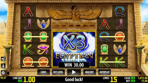 Egyptian Wild jackpot is developed by World Match