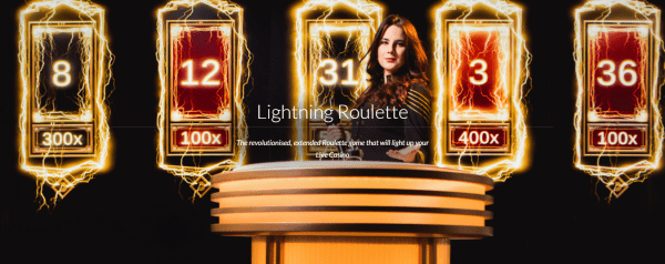 The Lightning Roulette is Evolution Gaming's signature roulette table